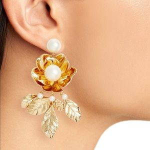 Kate Spade Lavish Blooms STATEMENT Earrings NWOT